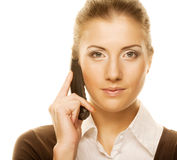 Business woman with a phone Stock Photo