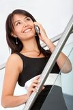 Business woman on the phone Royalty Free Stock Photography