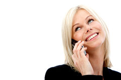 Business woman on the phone Royalty Free Stock Image