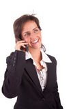 Business woman at the phone Royalty Free Stock Images