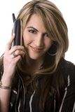 Business woman on the phone. Beautiful woman  wearing businesss wear and talking on the phone Royalty Free Stock Photos
