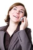 Business woman with phone Stock Photo