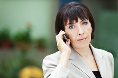 Business woman phone Royalty Free Stock Photo