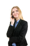 Business woman with a phone Stock Image