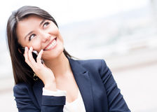Business woman on the phone Stock Photography