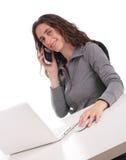 Business woman on phone Stock Photos