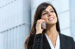 Business woman with phone Stock Photography