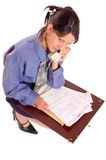 Business woman and phone Stock Photo