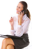 Business Woman on the phone Stock Image