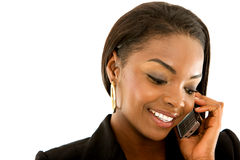 Business woman on the phone Royalty Free Stock Images