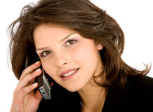 Business woman on the phone Stock Images