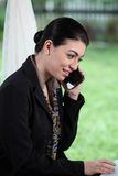 Business woman on the phone. Busy business woman on the phone Stock Photography