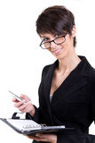 Business woman with phone and calendar Stock Photography