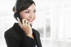 Business woman on phone call royalty free stock photos