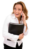 Business woman on the phone call royalty free stock photos