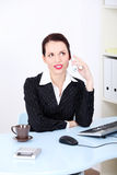 Business woman on phone call at office Stock Images