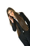 Business Woman on Phone. Business woman on the phone making deals Stock Images