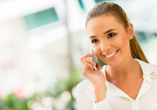 Business woman on the phone Royalty Free Stock Photo