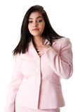 Business woman in pink suit Royalty Free Stock Photography