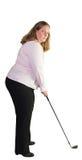 Business woman playing golf Stock Photos