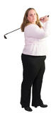 Business woman playing golf Royalty Free Stock Photo
