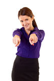 Business woman pointing Stock Image