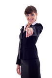 Business woman pointing Stock Photos
