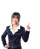 Business woman pointing Royalty Free Stock Photography