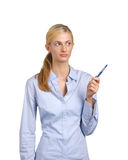 Business Woman Pointing Stock Photography