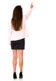 Business woman pointing away Royalty Free Stock Photos