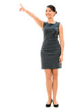 Business woman pointing Royalty Free Stock Image