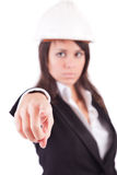 Business woman, pointing forward Stock Photography