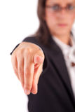 Business woman, pointing forward Stock Images