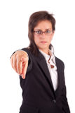 Business woman, pointing forward Royalty Free Stock Photography