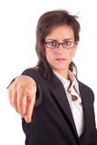 Business woman, pointing forward Royalty Free Stock Photos