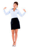 Business woman pointing at herself Royalty Free Stock Image