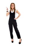 Business woman pointing showing   Stock Photography