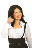 Business woman pointing to you Stock Photos