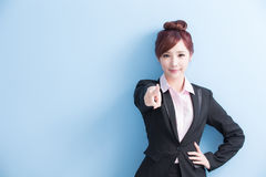 Business woman pointing to you Royalty Free Stock Photo