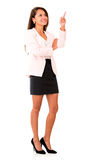 Business woman pointing up Stock Image