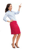 Business woman pointing up Royalty Free Stock Photos