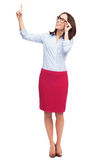 Business woman pointing up Stock Photography