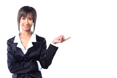 Business woman pointing Royalty Free Stock Photos