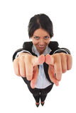 Business woman pointing at you Royalty Free Stock Photography
