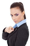 Business woman pointing at you Royalty Free Stock Images