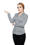 Business woman pointing Stock Photo