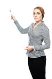 Business woman pointing Stock Images