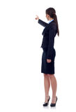 Business woman points finger Stock Photos