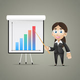 Business woman points on flipchart. Illustration, business woman points on flipchart, format EPS 10 Royalty Free Stock Images