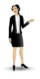Business woman points right Royalty Free Stock Image